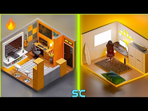 small gaming room setup idea 👌 2021 / for small rooms -3D design part 2