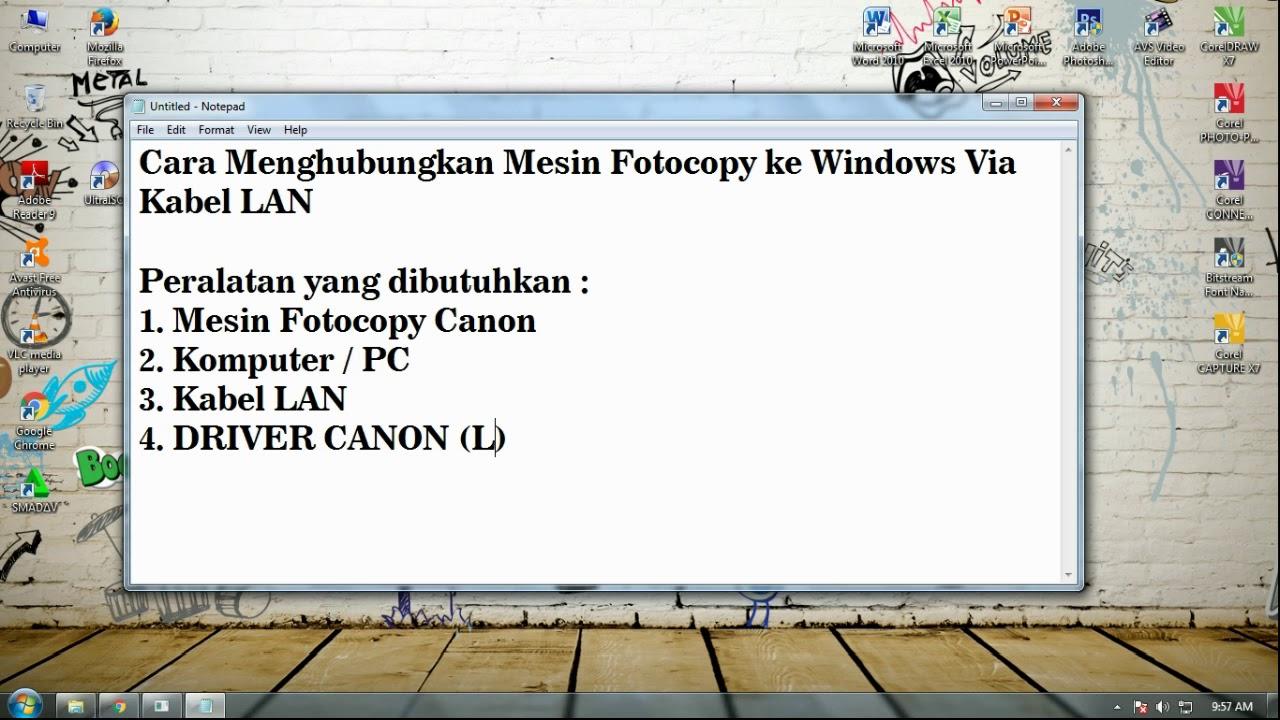 Cara Menghubungkan Mesin fotocopy ke komputer - YouTube