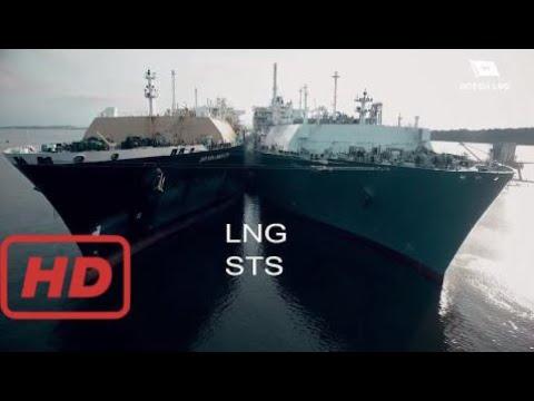 Liquefied Natural Gas (−260 °F) Ship to Ship Transfer #AK