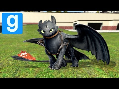 HOW TO TRAIN YOUR DRAGON in Garry's Mod (Toothless Dragon)