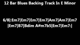 12 Bar Blues Backing Track In E Minor