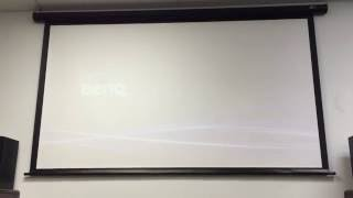 The 100-inch widescreen electric projector screen by ELITE SCREENS
