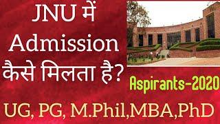 JNU Admission!!UG,PG,MPhil,PhD,MBA!!Aspirants-2020