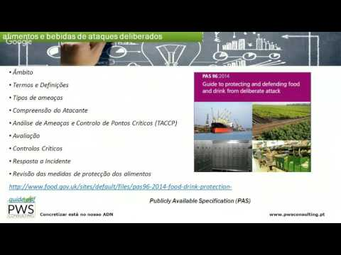 2.º Webinar - FOOD DEFENSE