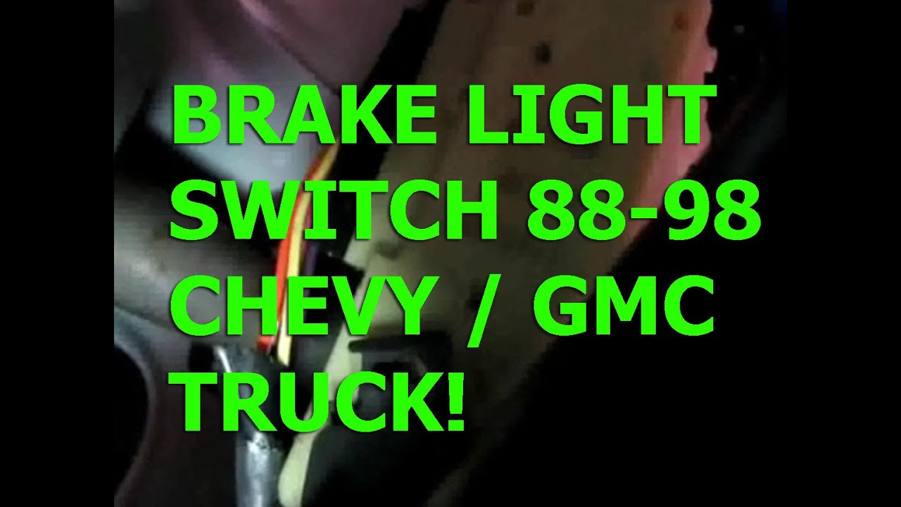 Chevy Silverado 8898 brake light switch replacement GMC Sierra tahoe Suburban  YouTube