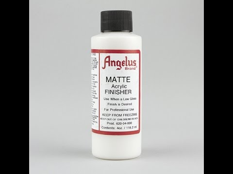 How to apply Angelus Matte Acrylic