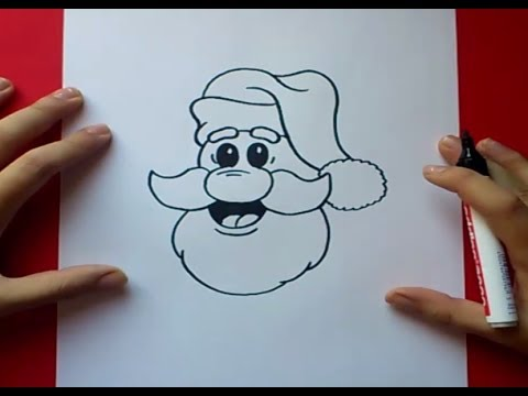 ... dibujar a papa noel paso a paso | How to draw Santa Claus - YouTube
