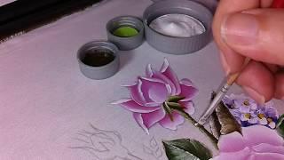 Mini rosinha e botões PT final – Pintura em Tecido