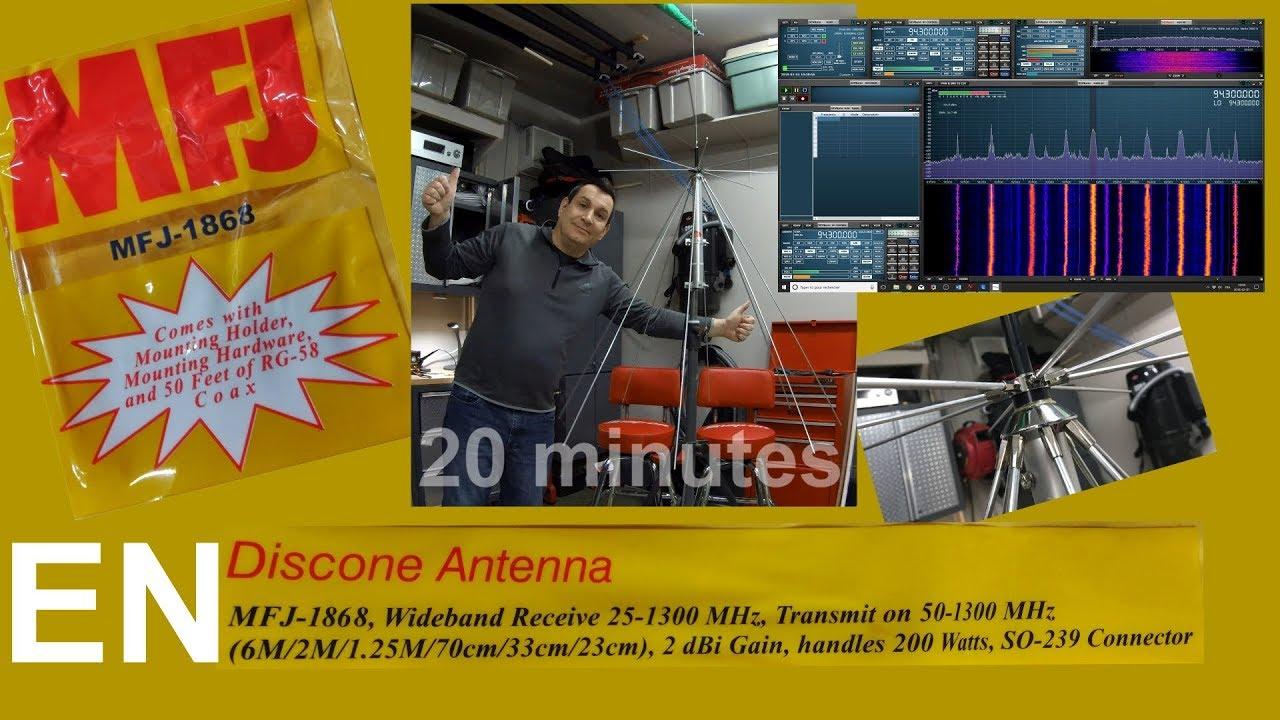 MFJ-1868 - Discone Antenna for Broadband SDR receivers