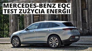 Mercedes-Benz EQC 400e 408 KM - pomiar zużycia energii
