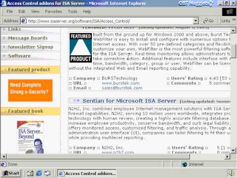 WINDOWS ISA SERVER 2000  intro