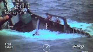 Coast Guard Saves Crew of Sinking Boat: Caught on Tape