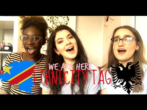 WE ARE HERE | ETHNICITY TAG (Albanian/Congolese)