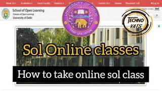HOW TO TAKE SOL DU ONLINE CLASSES 2020