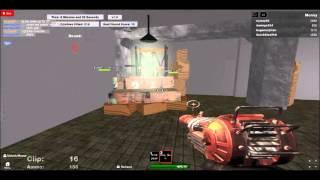 zombies de morue de roblox avec le pistolet de rayon