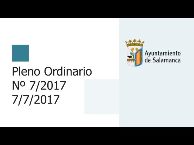 Pleno Municipal. Sesión Ordinaria Nº 7 /2017