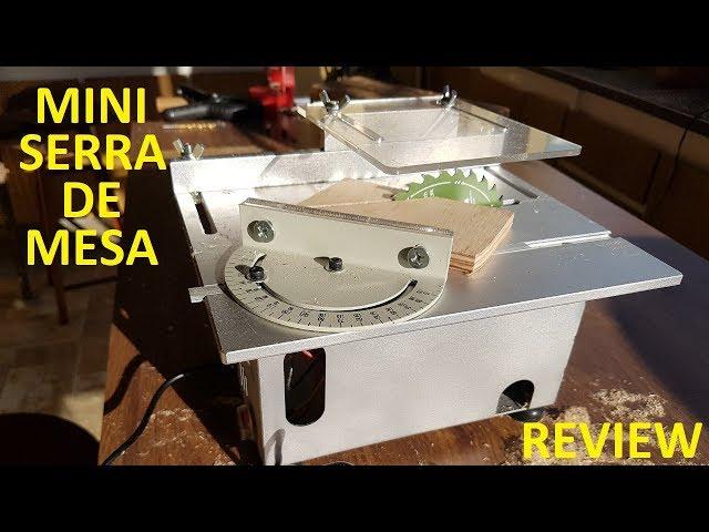 TESTE MINI SERRA CIRCULAR DE MESA COM FURADEIRA HORIZONTAL - REVIEW - banggood.com
