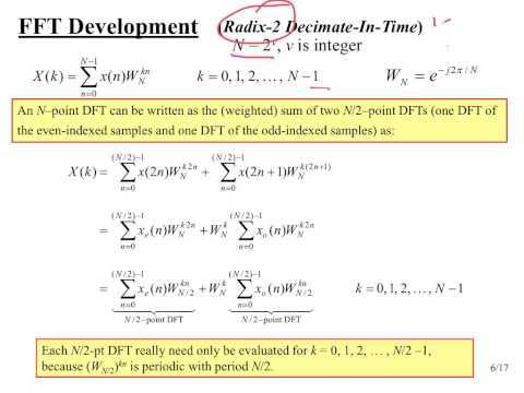EEO303 Note Set #25 FFT Radix 2 Algorithm - YouTube