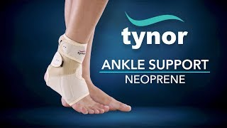How to wear Tynor Ankle Support Neoprene for support and compression to weak or injured ankle