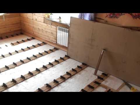 CM Itanium - Пол в деревянном доме из ДСП на монтажных клиньях