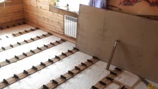 видео Как утеплить пол в квартире уложенного на лаги