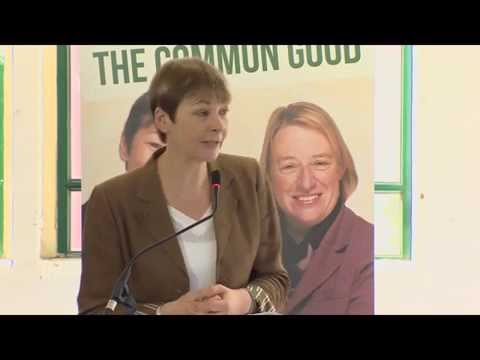 Caroline Lucas at the 2015 Green Party Manifesto launch