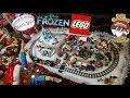 HUGE LEGO TOUR!! SANTA CLAUS, DISNEY FROZEN ELSA & ANNA! EPIC FUN WINTER VILLAGE DISPLAY!
