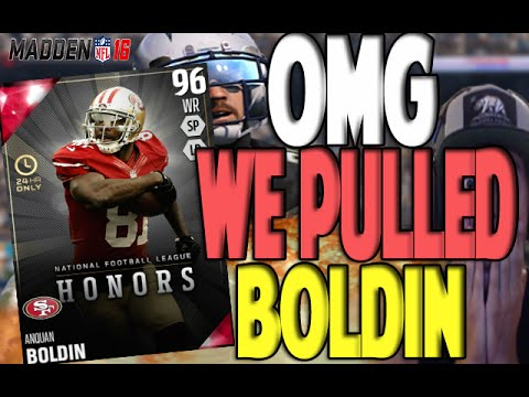 OMG 24 HOUR ANQUAN BOLDIN PULL!! 100 CIT - 99 RLS WOW | MADDEN 16 ULTIMATE TEAM PACK OPENING