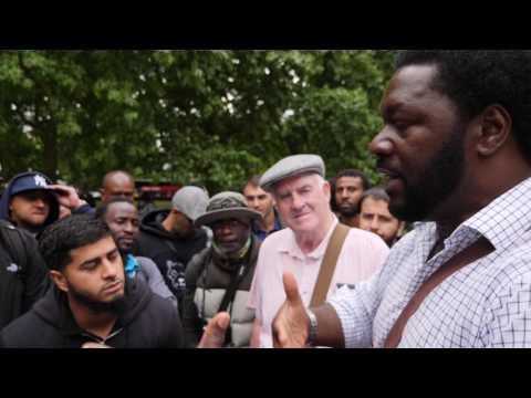 Speakers Corner - Muslim (Hamza) & Big Bro - Free Speech in the park?