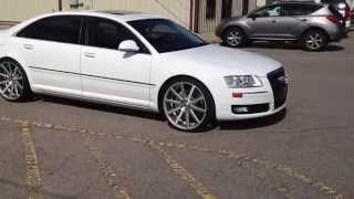 2008 Audi A8 with 22 icnh XO Tokyo Wheels staggered