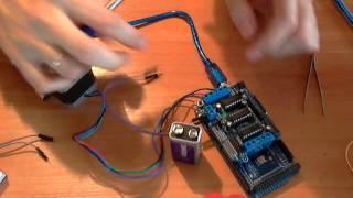 видео L293d подключение к шаговому двигателю