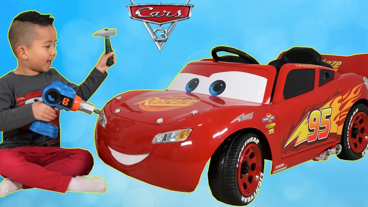 New Disney Cars 3 Lightning Mcqueen Battery Powered 6v