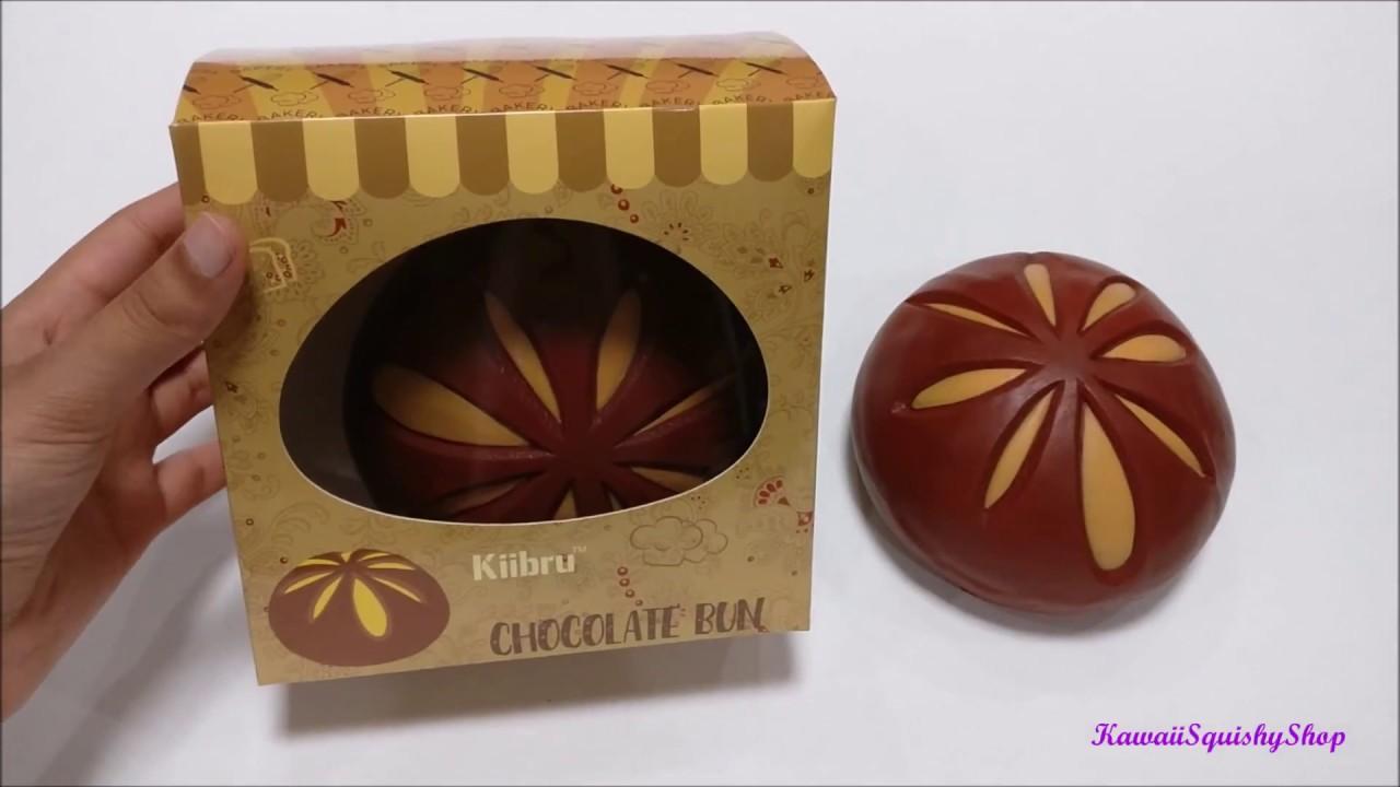 Slow Rising Jumbo Kiibru Chocolate Bun Squishy Scented Like Chocolate