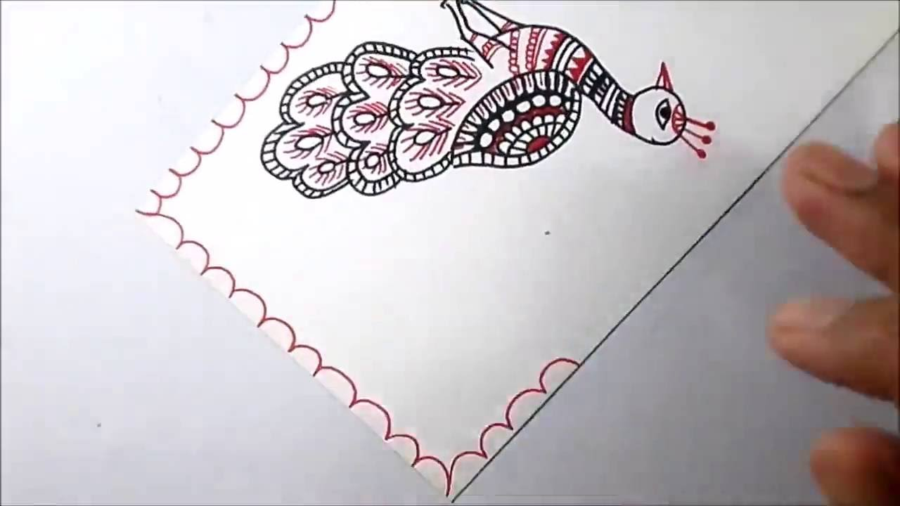 how to draw a nice peacock