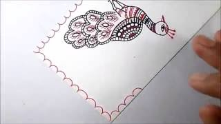 madhubani painting -a nice peacock