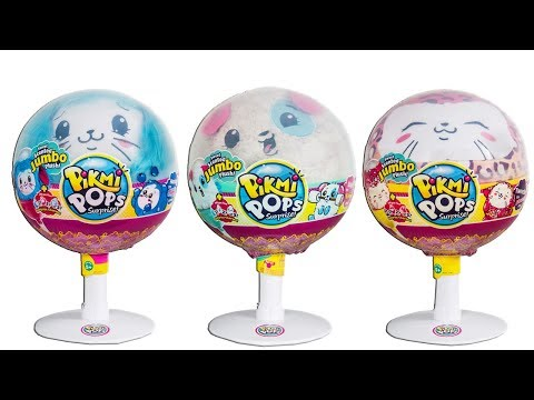 Jumbo Pikmi Pops Surprise Scented Plush Unboxing Toy Review with Surprise Charms