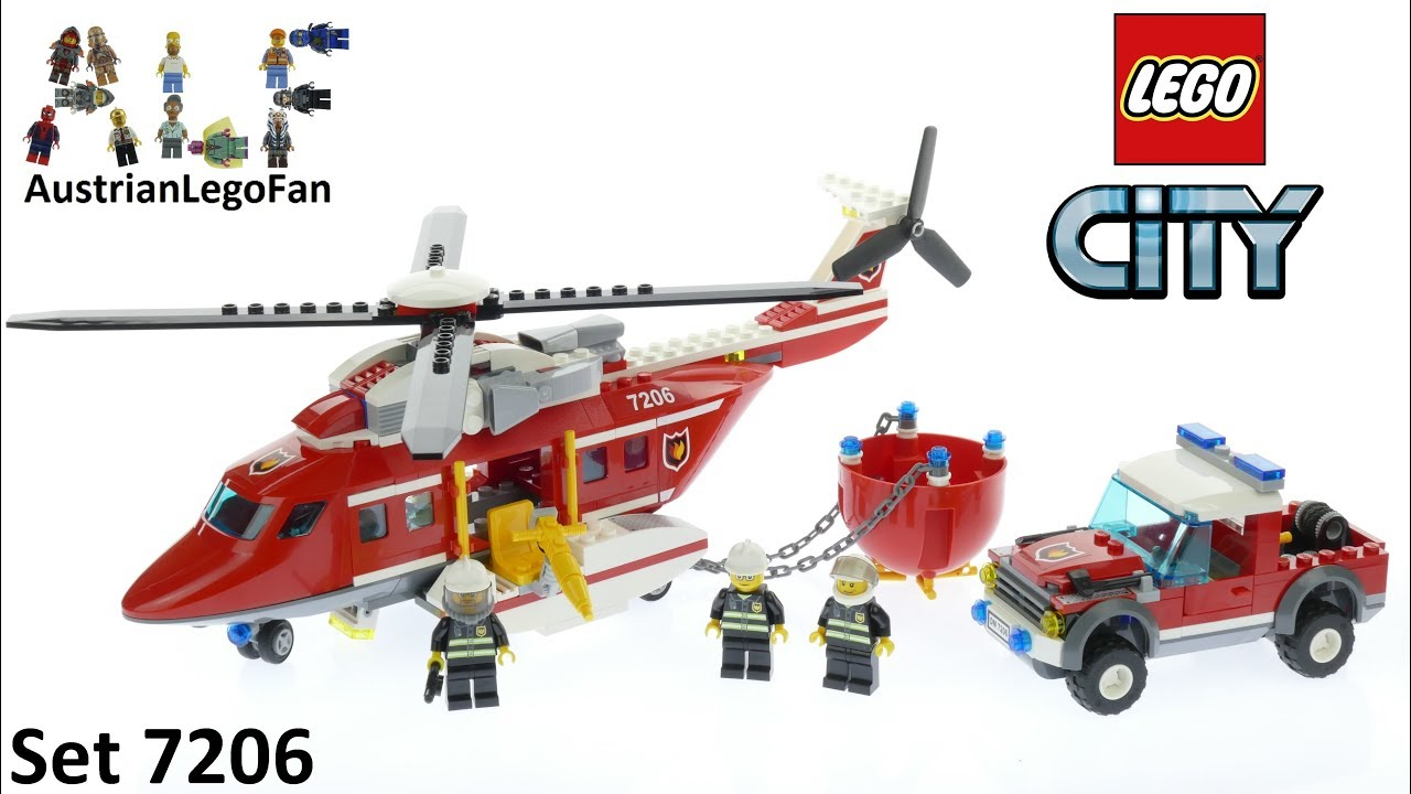 Lego City 7206 Fire Helicopter - Lego Speed Build Review