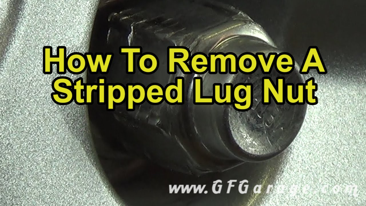 how to remove a stripped lug nut youtube. Black Bedroom Furniture Sets. Home Design Ideas