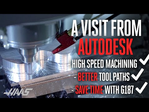 CAM Settings and Your Haas Machine - AutoDesk visits Haas Automation.