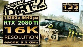 Dirt 2 16K resolution | RTX 2080 Ti SLI 16K | Dirt 2 16K gameplay