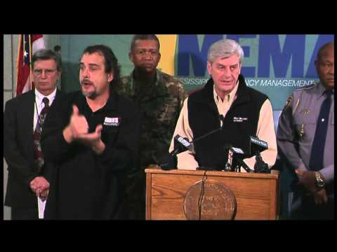 MEMA: Gov. Phil Bryant Press Conference to Update Storm Recovery