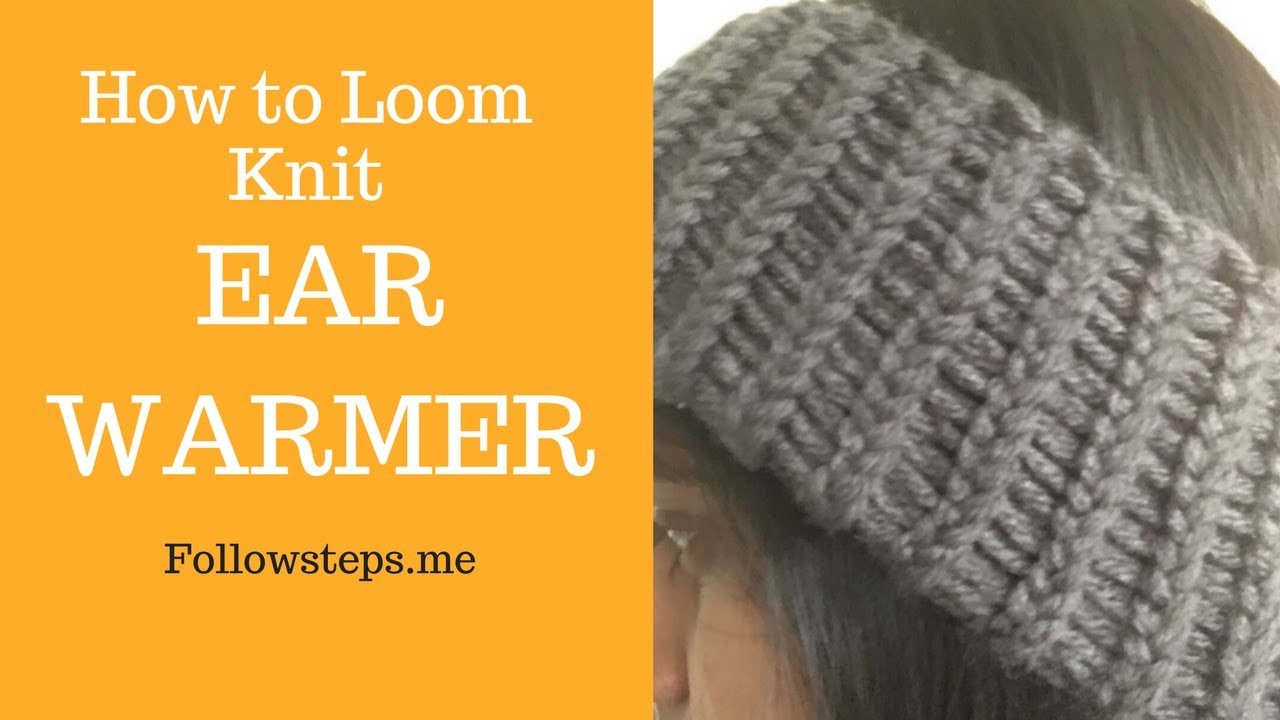 How to Loom Knit Ear Warmer - YouTube