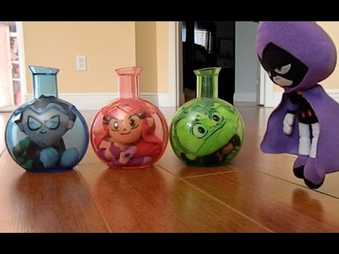 Thumbnail: Teen Titans Go! Robin, Beast Boy and Stafire are Stuck in a Chemical X Bottle with Raven