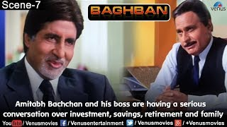 Amitabh & his boss are having a serious conversation over investment, savings, retirement & family