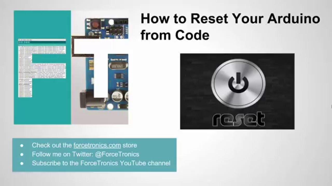 How to reset your arduino from code youtube