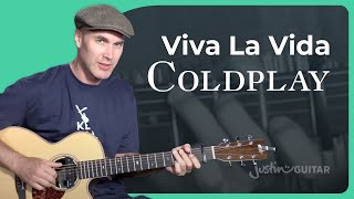 Coldplay - Viva La Vida Guitar Lesson Tutorial - JustinGuitar