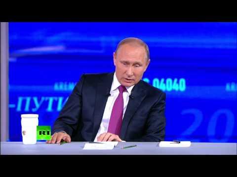 Путин ответил на блиц-опрос в завершении прямой линии