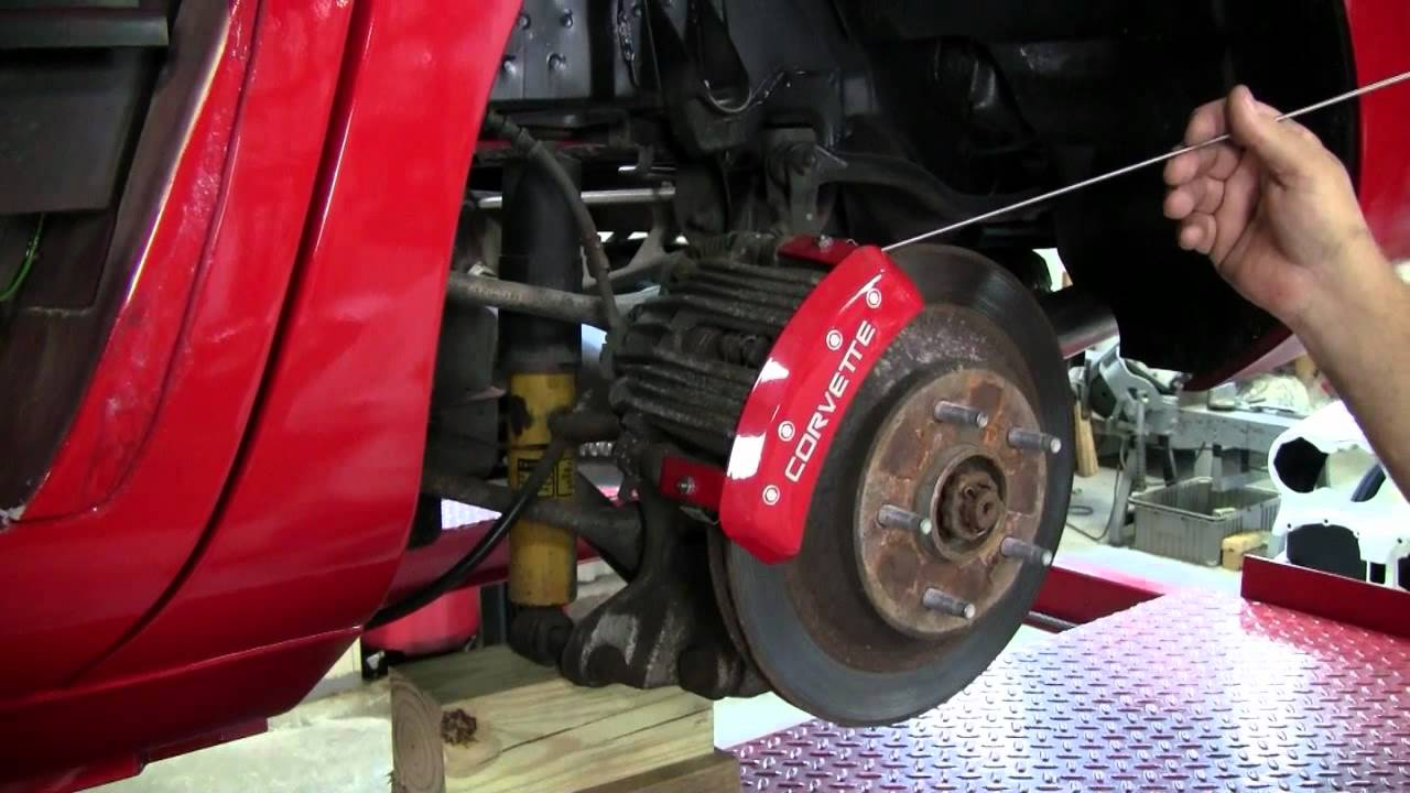C4 Corvette Cutaway Caliper Covers Youtube