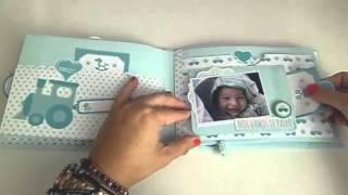 Mini álbum de bebé  hecho a mano | Anita y su mundo scrapbooking