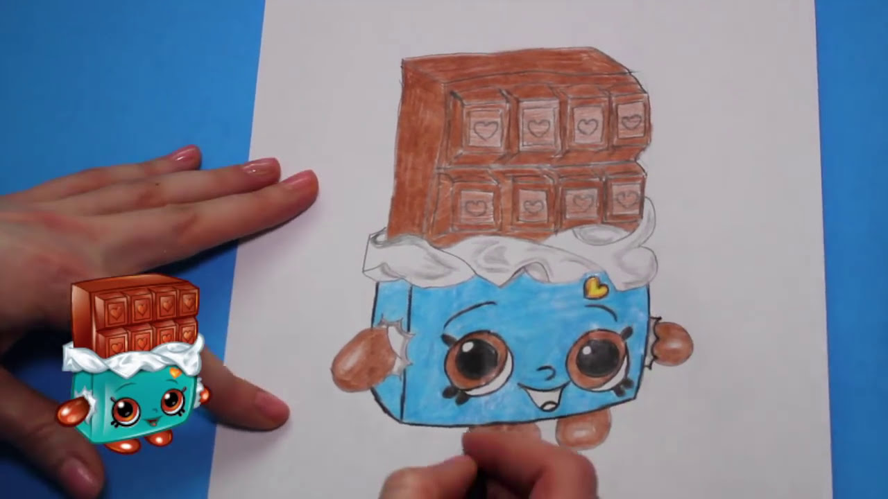 How to draw shopkins season 1 cheeky chocolate step by step easy toy caboodle youtube